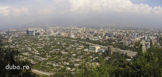 Santiago de Chile - vedere de pe dealul San Cristobal