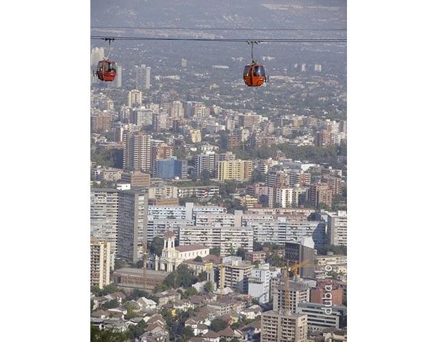 Santiago de Chile, de pe dealul San Cristobal
