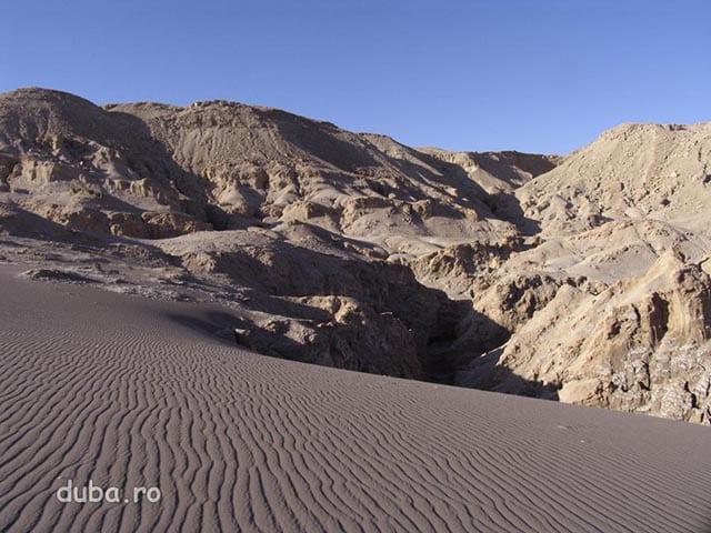 Valle de la Luna - dune de nisip, pereti si canioane din sare