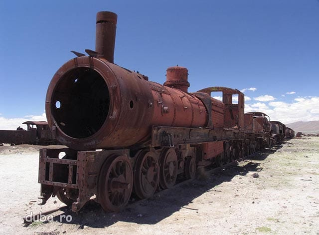 Cimitirul de trenuri din Uyuni