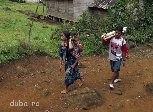 La Aruh se aduna dayacii din mai toate catunele din vale, unele aflate la mai mult de o zi de mers... Pentru cateva zile ei vor dormi in Balai Desa. Cu ocazia asta familiile se reunesc, tinerii isi gasesc parteneri / partenere, adultii discuta business-uri...