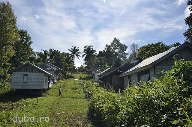 Bati Sayei. Un catun care in buna parte pare nelocuit, insa in care recent au fost construite peste 20 de case noi pentru a se justifica cheltuirea unor bani.