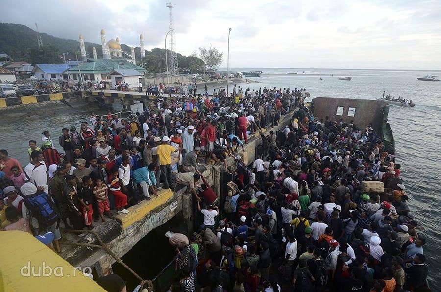 Debarcarea in Portul Kaimana.